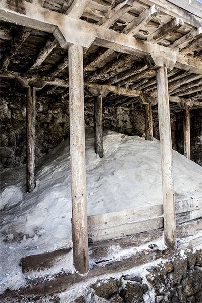 Bunch of salt in Añana Salines
