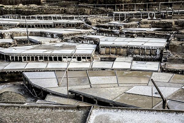 Terrazas de las salinas de Añana