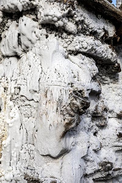 Texturas de la sal de Añana